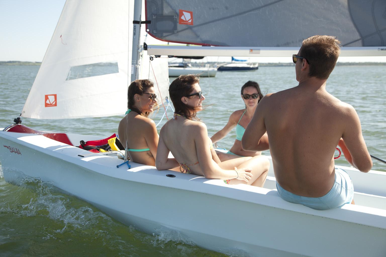 segeln mit Freunden